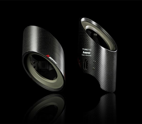 T#3029 - TP-BME71C - Akrapovic Carbon Fiber Tail Pipe Set - E71 X6 3.5i - Akrapovic - BMW