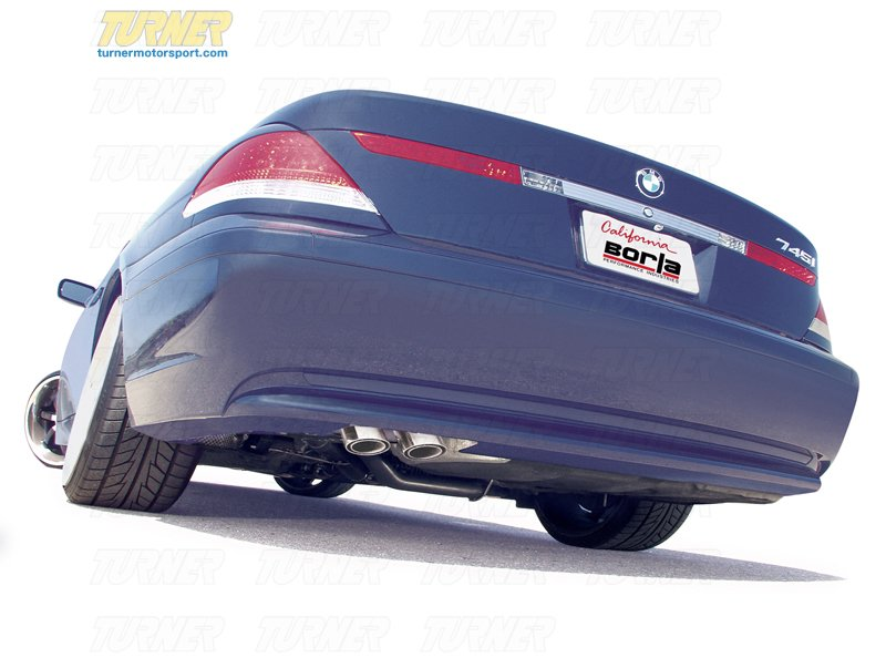 T#5416 - 140130 - E65 745i/745Li Borla Sport Exhauast - Cat-Back Resonators, Muffler - Borla -