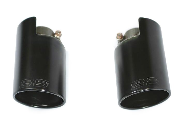 T#221957 - 816054 - Supersprint Exhaust TIPS RT-LT O100 BLACK, 500 ABARTH SS, MINI S - Supersprint -