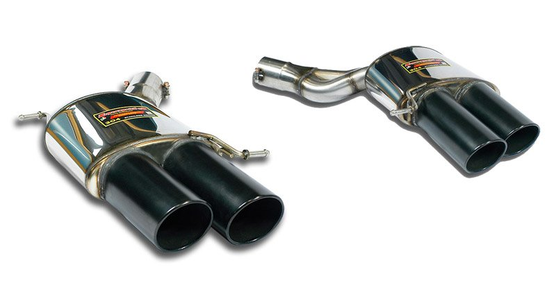 T#189803 - 988176-988156 - F13 M6, F06 M6 Gran Coupe Supersprint Performance Mufflers (Left & Right Set) (Satin Black 4x100mm Tips) - Supersprint - BMW