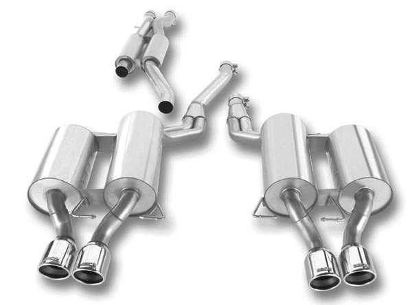 T#1502 - 140196 - E60 M5 Borla Sport Cat-Back Exhaust - Cat-Back Rear Resonators, Mufflers - Borla -