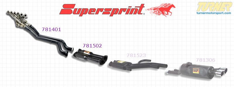 T#177979 - 781401-781502 - E24 635CSi, E28 535i Supersprint Header and Front Resonator Exhaust Upgrade - Supersprint - BMW