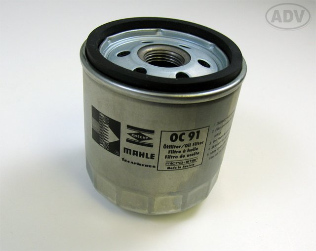 T#1177 - 11421460845 - OEM Mahle Filter # OC91 for BMW Motorcycles - Mahle -