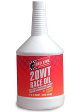 T#1130 - 1-MT20WT-Q - Red Line 20 WT SAE (5W-20) Race Engine Oil - Redline -