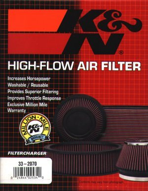 T#4008 - 33-2142 - E38 740i 1995-up, E39 M5, 540i 1997-up, E53 X5 4.4 K&N High-Flow Air Filter - K&N - BMW