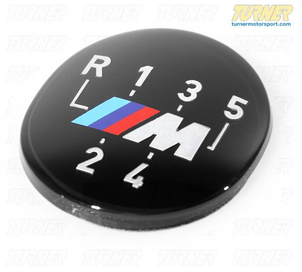 T#20143 - 25111221613 - Genuine BMW 5 speed Shift Knob Emblem with M Logo - Genuine BMW - BMW