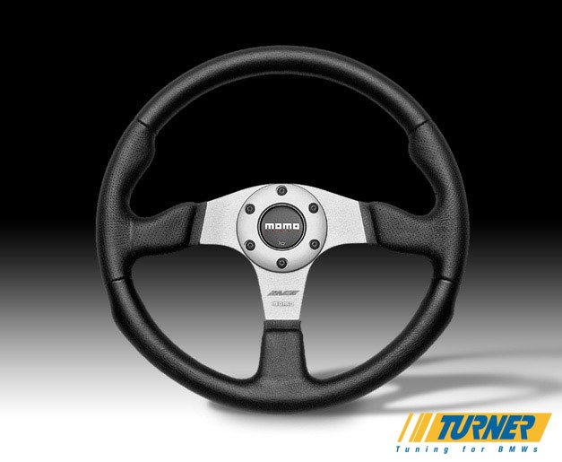 Rce35bk1b Momo Race Steering Wheel Silver 350mm
