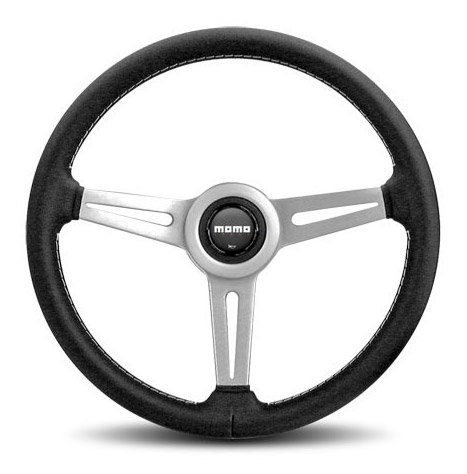 T#21540 - RET36BK2S - MOMO Retro Steering Wheel - Silver - 360mm - MOMO - BMW MINI