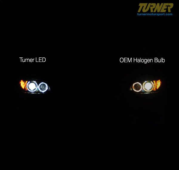 T#12129 - LHUXX1W3Y - LED Bright White Angel Eye Bulb Upgrade- E39 E60 E63 E65 X5 X3 - Turner Motorsport - BMW