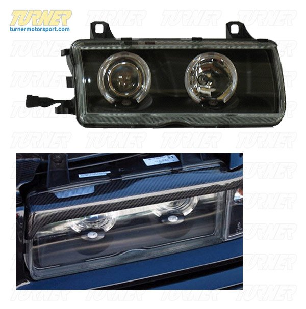 T#3773 - 1AL008875-851 - Hella Euro Angel Eye Headlight Kit With Black Housings for E36 - Hella -