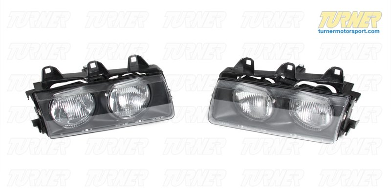 T#3935 - 63121387863 - E36 1992-99 Replacement Headlight Housings (pair) - Turner Motorsport - BMW