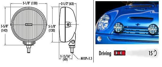 T#256 - 5430 - PIAA Driving Lamp Kit for MINI Cooper and Cooper S - (NO LONGER AVAILABLE) - PIAA -