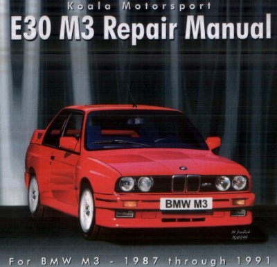 T#4101 - E30M3REPAIR - E30 M3 CD-ROM Repair Manual - Koala Motorsport - BMW