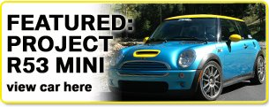 As Used on our Project Mini Cooper S