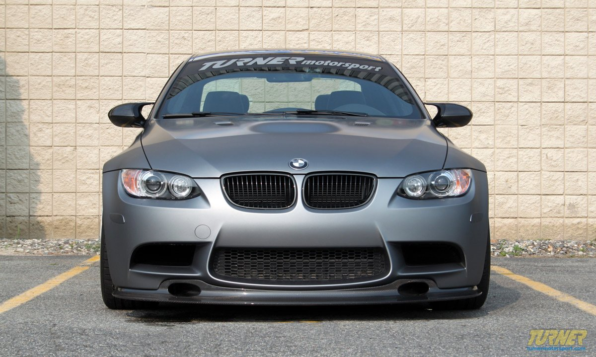 BMW frozen gray M3 on coilovers