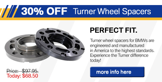 Turner Spacers for BMWs
