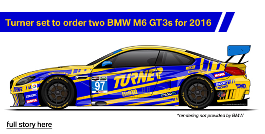 Turner Confirms Order of BMW M6 GT3