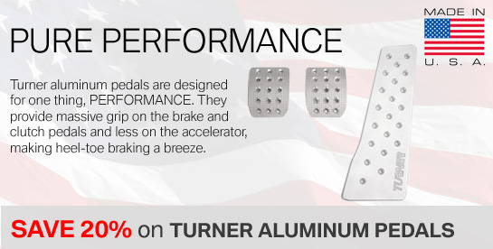 Turner Aluminum Pedals on Sale