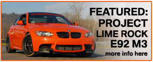 As Used on our Project Lime Rock E92 M3