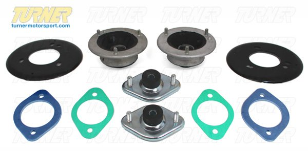 T#11799 - E46MOUNTKIT - 3-series Strut/Shock Mount Kit - E46 (not M3, not xi) - Turner Motorsport -
