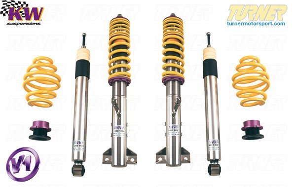 T#11552 - 10220013 - E36 318ti/Compact KW Coilover Kit - Variant 1 (V1) - KW Suspension -