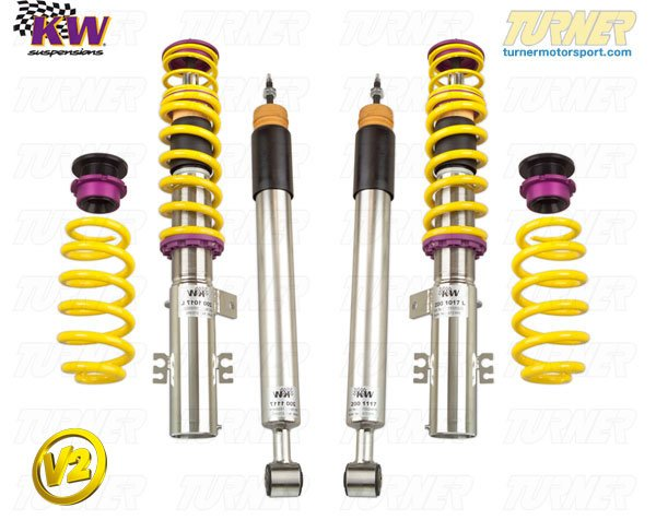 T#11588 - 15220013 - E36 318ti/Compact KW Coilover Kit - Variant 2 (V2) - KW Suspension -