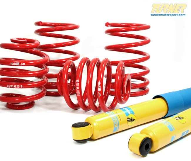 T#5392 - E90-SPSUSP - E90 325i/328i/330i Sedan H&R/Bilstein Sport Suspension Package - Packaged by Turner - BMW