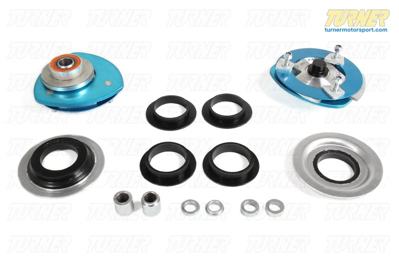 T#221950 - 193616L2 - Front Adjustable Camber/Caster Plates - E39 540/M5, E38 740, E60 M5, E63 M6 - KMAC Stage 2 Street/Track - KMAC -