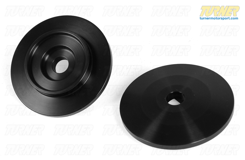T#401 - TSU9980007 - Upper Spring Hats/Perches (Pair) - 60mm / 14mm Pin / Square Seat - Turner Motorsport - BMW