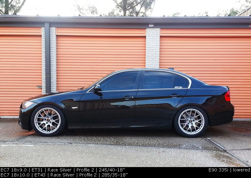 "T#180726 - EC71810ET43AN - APEX EC-7 18x10"" ET43 Anthracite Wheel 21.95lbs -PROFILE 2 - APEX Wheels - BMW"