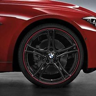 "T#65728 - 36112219674 - Genuine BMW 20"" Wheel & Tire Set - Black Double Spoke 361 - F30 F32  - Genuine BMW - BMW"