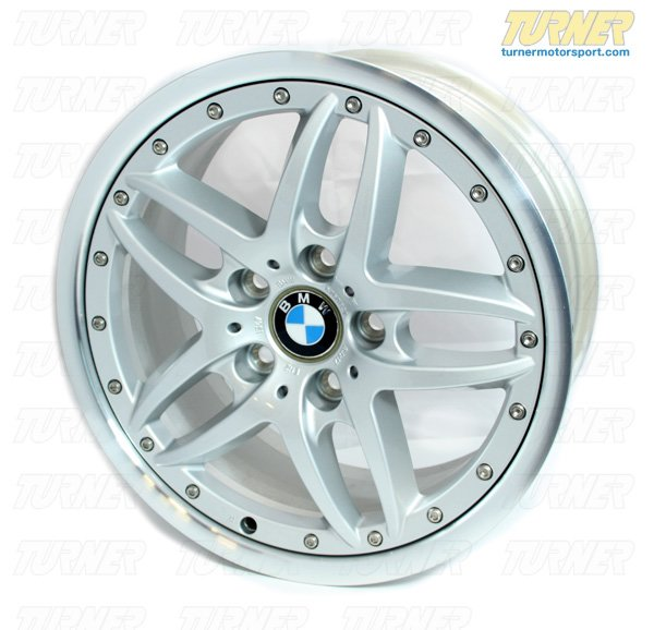 T#3095 - 36116760821 - E46, Z4 Genuine BMW Double Spoke Style 71 17x8.0 Wheel - Genuine BMW - BMW