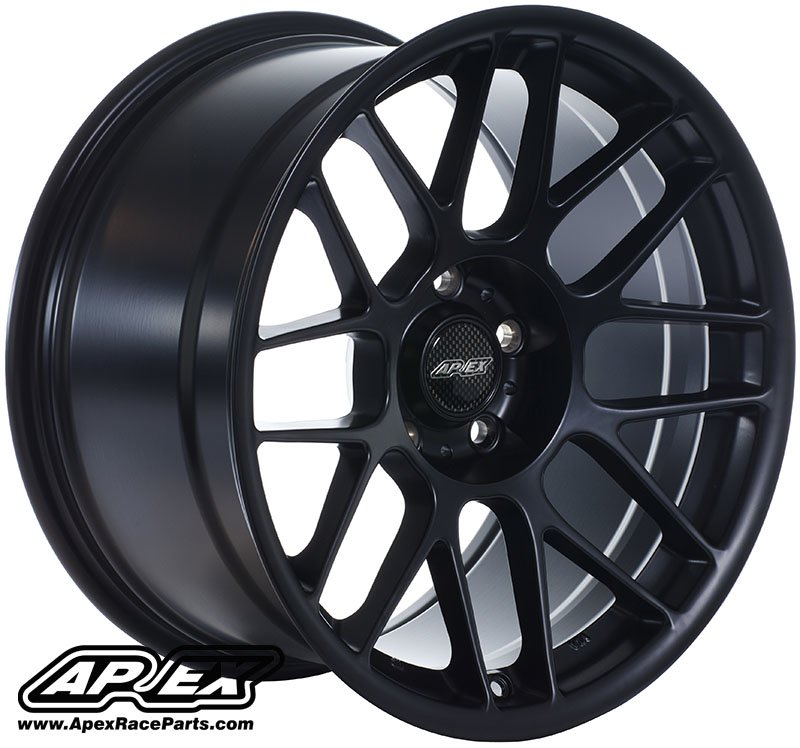 "T#180787 - ARC81710ET25SMBK - APEX ARC-8 17x10"" ET25 Satin Black Concave Wheel 18.10lbs - APEX Wheels - BMW"