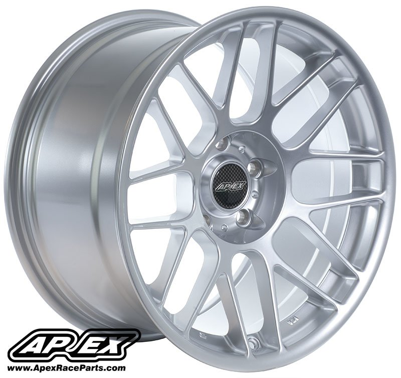 "T#180806 - ARC81785ET20HS - APEX ARC-8 17x8.5"" ET20 Silver Wheel 16.5lbs - APEX Wheels -"