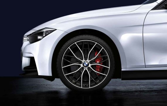 T#12228 - 36112219672 - Genuine BMW Performance M Double Spoke 405 Wheels & Tires - F30 3 series - Genuine BMW - BMW