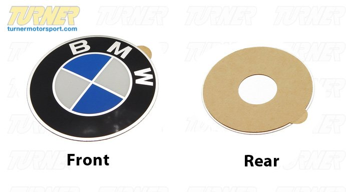 T#8227 - 36131181082 - Wheel Emblem - Adhesive Backed - 45mm - E30, 2002 - Genuine BMW - Audi BMW