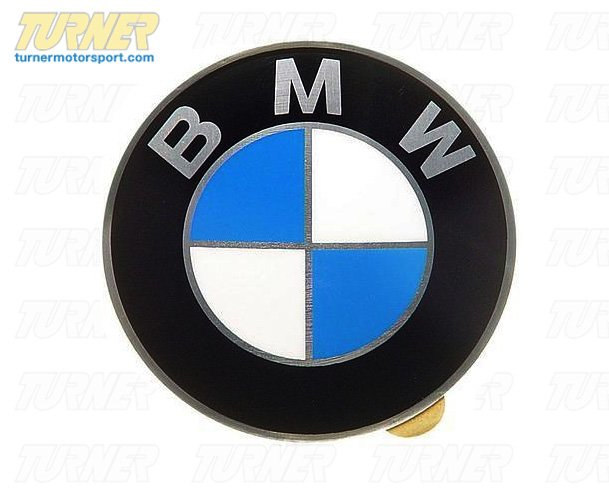 T#8223 - 36131181080 - Wheel Emblem - Adhesive Backed - 64.5mm - Convex - Genuine BMW - BMW