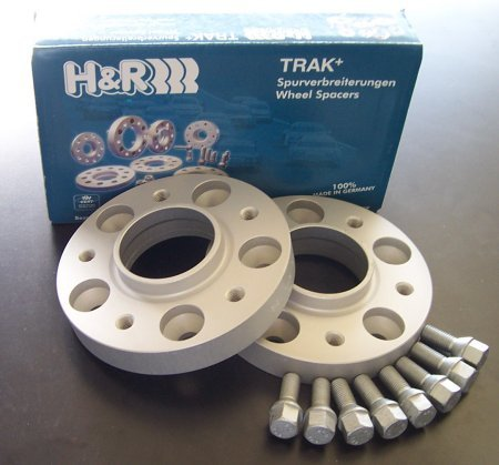 T#5291 - 1075725-E53 - E53 X5, E83 X3, E65 5mm H&R Wheel Spacers with Wheel Bolts (Pair) - H&R - BMW