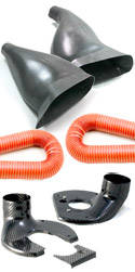 BMW E9 30CS Brake Cooling Ducts & Backing Plates