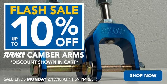 TMS - Camber Arm Flash Sale