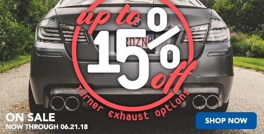TMS - Up to 15% Off Turner Exhaust Options