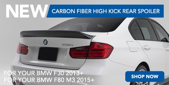 TMS - New F30/F80 High Kick Spoiler