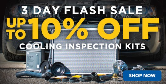 3 Day - FLASH SALE Up to 10% Off Cooling Inspection Kits