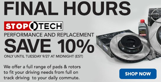 TMS 10% Off Promo StopTech Promo