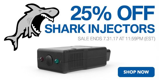 25% Off Shark Injectors