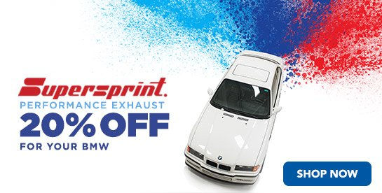TMS - 20% Off Supersprint Exhaust Systems