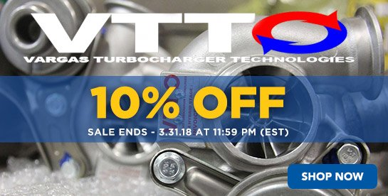 TMS - 10% Off Vargas Turbo Technologies Sale Ends - 3.31.18 at 11:59 PM (EST)